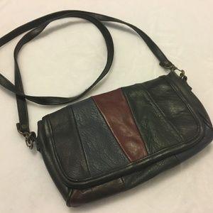 Vintage Leather Shoulder Bag Purse Clutch Wallet
